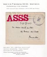 DDW800 - APRES-GUERRE 40/45 - Lettre En Franchise Cachet ARMEE SECRETE - Secteur D' Anvers - 28 III 1945 Vers BXL - Guerre 40-45