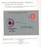 DDW801 - APRES-GUERRE 40/45 - CANTONS DE L' EST - Entete Allemande Burgemeisteramt KETTENIS S/ Lettre TP EUPEN 1945 - Guerre 40-45