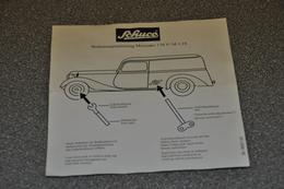 Schuco Mercedes 170V 1:18 Handleiding 36-9667-00 - Accessori