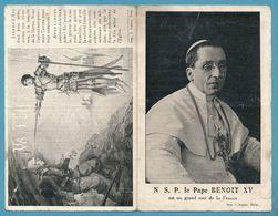 Dépliant : N.S.P. Le Pape Benoit XV Est Un Grand Ami De La France - Religion & Esotérisme