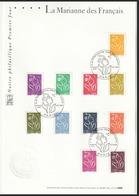 Année 2005 - N° 3731 à 3741 - Marianne De Lamouche - 11 Valeurs - Notice Philatélique 1er Jour Paris 08-01-2005 - 2004-08 Marianne Of Lamouche