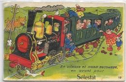 67.  SELESTAT.  CARTE A SYSTEME  TRAIN - Selestat