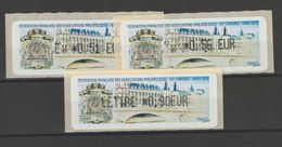 FRANCE - 3 VIGNETTES 0,51€, 0,56€ ET 0,90€ - FFAP 83E CONGRES PARIS 2010 - 2010-... Illustrated Franking Labels
