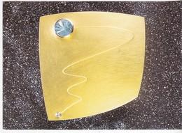 Broche -  Gelbgold, Brillant, Aquamarin  - Original-Becker-Cut - 2001 - Bijoux & Horlogerie