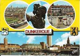 59. CPM. Nord. Dunkerque. Le Port, La Statue De Jean Bart (oeuvre De David D'Angers) Place Jean Bart, Etc.. (4 Vues) - Dunkerque