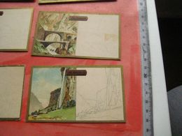 7 Cards Litho C1900 ChocolateSUCHARD Section V Nr 22 - White Part To Be Painted Similar By Child - Views From SUISSE - Sammlungen
