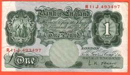 Billet ROYAUME UNI  - 1 Pound ( 1955 60 ) - Pick 369c - 1 Pound