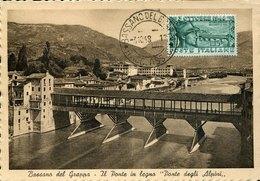 52803 Italia,maximum 1948 Bassano Del Grappa,the Wooden Bridge, Ponte Alpini, Architecture RR - Brücken