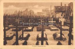 CARTE ALLEMANDE WESTENDE 1917  FRIEDHOF KERKHOF - Westende
