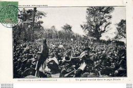 CÔTE D'IVOIRE   Un Grand Marché Dans Le Pays Dioula  .......... - Côte-d'Ivoire
