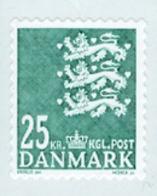 DANEMARK 2010 - Armoiries - 25 DDK Vert - Danimarca