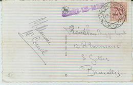 MARCHE-LEZ-DAME Op Zichtkaart/carte Vue Met Diamantstempel - Marcofilia