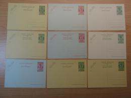 Belgisch Congo - Set Van 9 Briefkaarten (waarvan 2 Stuks Ruanda) - Ongebruikt - Entiers Postaux