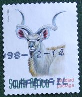 ENDANGERED ANIMALS: KUDU 1997 1998 Mi 1152 BA Y&T - Used Gebruikt Oblitere SUD SOUTH AFRICA RSA - Sud Africa (1961-...)
