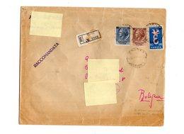 P0119 RACCOMANDATA BUSTONE  TURRITA TESTONE L. 100 + L. 200 + EUROPA 1958 L. 60 - 6. 1946-.. Repubblica