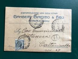 ACIREALE (CATANIA) ESPORTAZIONE VINI DELL'ETNA  GANGEMI GIACOMO & FIGLI  1920  UVA VINO - Acireale