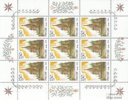 Russland 375Klb Kleinbogen Postfrisch 1994 Kirchen Aus Aller Welt - Unused Stamps