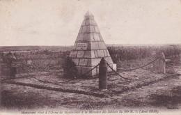 ORME DE MONTECOUVE : (08)  Monuent élevé à La Mémoire Du 90° R.I. (Août 1918) - Other Municipalities