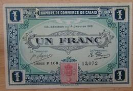 CALAIS ( 62  ) 1 Franc Chambre De Commerce 14 JANVIER 1916 - Chamber Of Commerce