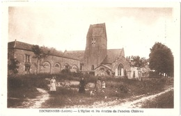 Dépt 45 - ESCRENNES - L'Église Et Les écuries De L'ancien Château - (Éditeur : L. Lenormand) - France