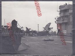 Fixe Marine Nationale Porte-avions Arromanches Accident Avion Beau Format - Guerre, Militaire