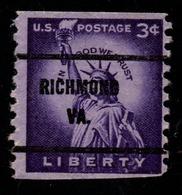 "USA Precancel Vorausentwertung Preo, ""RICHEMOND"" (VA). Roulette. - Preobliterati"
