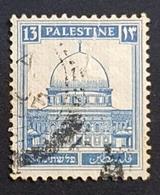 1927-1932 The Dome Of Rock, 13M, British Palestine, Used - Palestine