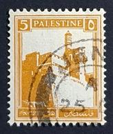 1927-1932 Citadel Tower Of David, 5M, British Palestine, Used - Palestine