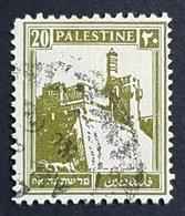 1927-1932 Citadel Tower Of David, 20M, British Palestine, Used - Palestine