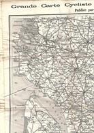 Grande Carte Cycliste Du Centre De La France Section Sud-Ouest En Tissu Éditeur TARIDE (non Datée) - Cartes Géographiques