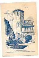 ILE DE RE SAINT MARTIN (17) Carte Illustrée L'Arsenal Ancien Hotel Du Marquis Huguenot De Clerjotte - Ile De Ré