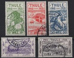Thule 1935/6 Set Of 5 Used Facit T1/T5 (Ref: 1471} - Thule