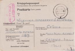 208-Militaria-Prigionieri Di Guerra-Germania Stalag XII F-arrivo Sicilia Durante Occupazione Alleata-21-3-44 X Catania - Guerra 1939-45