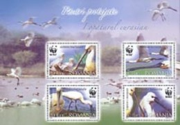 ROUMANIE - 2006 - W.W.F. -  Platalea Leucorodia - Bloc - W.W.F.