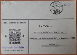 Portugal - COVER - Franchise / AVENÇA - Cancel: Setúbal (1977) - Junta Autónoma De Estradas / Direcção Estradas Setúbal - Franchise