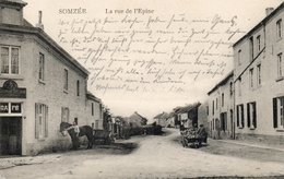 SOMZEE Rue De L' Epine.  Prés De Laneffe, Gourdinne Et Tarcienne. Feeldpost 1914.   (voir Les 2 Scans) - Belgique