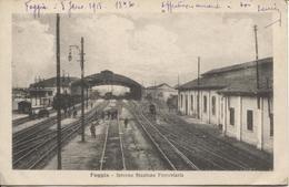 REF699/ Italia-Italy Foggia Interno Stazione Ferroviaria Animato- Locomotiva +/- 1915 - Foggia