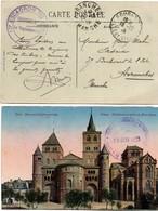 10ème Escadron Du Train à Fougères 1915  + Centre Instruction Automobile De Fontainebleau 1923 - 2 Cartes - Postmark Collection (Covers)