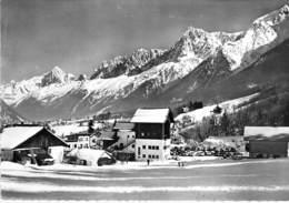74 - LES HOUCHES - MONT BLANC : Départ Du Téléphérique - CPSM Dentelée N/B Grand Format - Haute Savoie - Les Houches