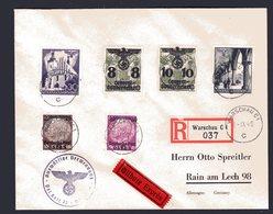 GG, R-Eilbote Fernbriefe Mi.-Nr. Ex. 5-47 - Occupation 1938-45