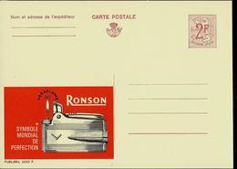 Publibel Neuve N° 2232 ( Briquet - Fire - Feu - RONSON ) - Enteros Postales