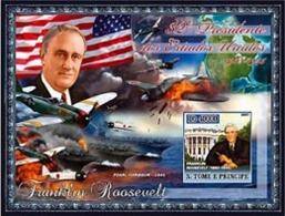S.TOME E PRINCIPE 2007 - Présidents Des Etats-Unis - Fr. Roosevelt - Célébrités
