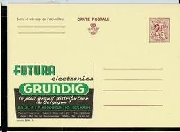 Publibel Neuve N° 2243 ( Futura GRUNDIG - Radio - Tv - Hifi ) - Werbepostkarten