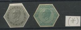 1865 Papier Mince  TG 1 Et 2 (* )  Cote 60,-euros - Télégraphes