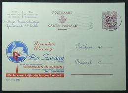 Entiers Postaux - Publibel 2192 Cygnes – Blanchisserie ( Wasserij, De Zwaan, Brugge) - Werbepostkarten