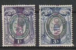 UNION SUD AFRICAINE FISCAUX - FISCAL 1937 - 1' Violet Vert Et 3' Bleu Vert Obl. - South Africa (...-1961)