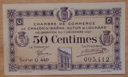 Chalon-sur-Saône Autun Et Louhans ( 71  ) 50 Centimes Chambre De Commerce 7 Décembre 1920 - Chamber Of Commerce