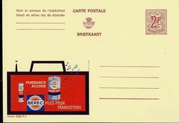 Publibel Neuve N° 2253 ( Piles BEREC  Pour Transistors - Electricty ) - Werbepostkarten