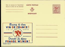 Publibel Neuve N° 2256 ( VIN DE FRANCE - Alcoolisme Garantie ) - Werbepostkarten