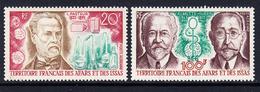 1970 Afars Et Issas  Medical Discoveries Pasteur Health Complete Set Of 2 MNH - Nuovi
